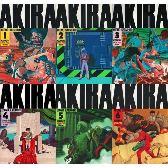 Coleção AKIRA vols. 1 ao 6 - Edição Japonesa Completa